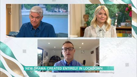 Stock Photo of Holly Willoughby and Phillip Schofield and Jeff Pope
