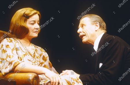 Stock Picture of Clare Higgins. Edward Fox.