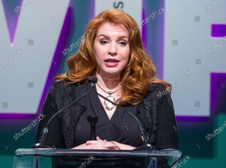 """Stephenie Meyer, author of the """"Twilight"""" series, speaking at the Women in Film 2015 Crystal And Lucy Awards in Los Angeles. Meyer's long-awaited prequel to her """"Twilight"""" series is coming out Aug. 4, the author announced on her web site Monday. """"The Midnight Sun"""" is narrated from the vampire Edward Cullen's perspective"""