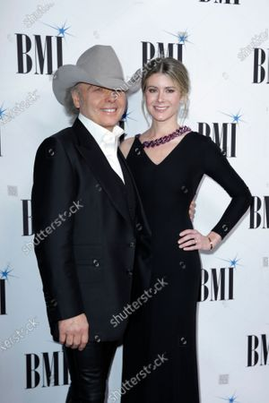 Dwight Yoakam, left, and Emily Joyce at 67th Annual BMI Country Awards ceremony in Nashville, Tenn. The couple were married in March just prior to the quarantine in a private ceremony at St Monica Catholic Church in Santa Monica, Calif