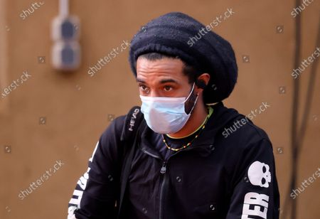 Player Dustin Brown arrives before a live stream of an tennis exhibition series match in Hoehr-Grenzhausen, Germany, 04 May 2020. Countries and Sports organizers around the world are taking increased measures to stem the widespread of the SARS-CoV-2 coronavirus which causes the Covid-19 disease.