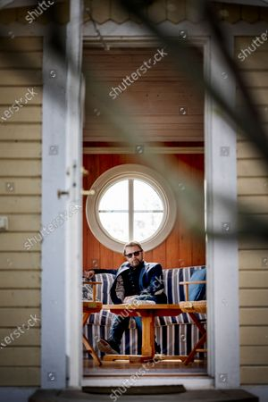 Björn Ulvaeus at his house on the private island of Vågaskär, Djursholm outside Stockholm, Sweden