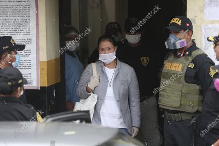 Stock Photo of Former Peruvian presidential candidate Keiko Fujimori is released from prison in Lima, Peru, . Fujimori who is the daughter of jailed former president Alberto Fujimori will be released while she is under investigation for money laundering, after Peru's supreme court accepted an appeal and ruled to revoke Fujimori's 15-month jail sentence