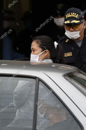 Keiko Fujimori as she departs from the Santa Monica prison in Lima, Peru, 04 May 2020. Peruvian opposition leader Keiko Fujimori, investigated for alleged illegal contributions from the Brazilian company Odebrecht, announced on Monday that she will not live with her family until she receives the result of the COVID-19 test to which she will submit. The Peruvian Prosecutor's Office announced last Friday that it will file a cassation appeal to reverse Fujimori's release, after the Criminal Appeals Chamber Specialized in Organized Crime annulled the 15-month preventive detention handed down last January against Keiko Fujimori, the founder of the Fuerza Popular party.
