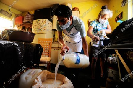 Editorial photo of Mexico. Production of Pulque during COVID-19, Mexico City, Mexico - 30 Apr 2020