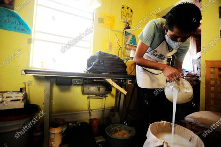 Editorial picture of Mexico. Production of Pulque during COVID-19, Mexico City, Mexico - 30 Apr 2020