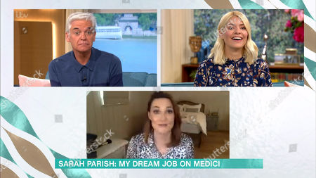 Stock Picture of Phillip Schofield, Holly Willoughby, Sarah Parish