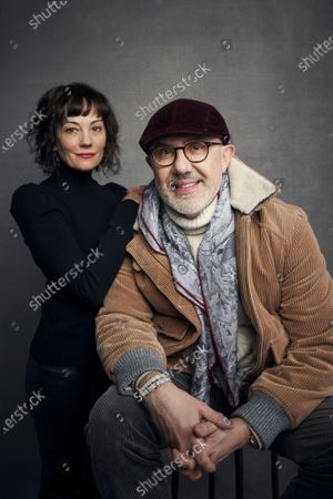 """Stock Image of Natasha Gregson Wagner, daughter of the late actress Natalie Wood, left, and director Laurent Bouzereau posing for a portrait to promote their documentary """"Natalie Wood: What Remains Behind"""" during the Sundance Film Festival in Park City, Utah. The film premieres on HBO on Tuesday, May 5"""