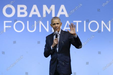 Stock Picture of Former President Barack Obama speaking at the Gathering of Rising Leaders in the Asia Pacific, organized by the Obama Foundation in Kuala Lumpur, Malaysia. Obama will deliver a televised prime-time commencement address for the Class of 2020 during an hour-long event that will also feature LeBron James, Malala Yousafzai and Ben Platt, among others. ABC, CBS, FOX, and NBC will simultaneously air the special May 16 at 8 p.m. Eastern, along with more than 20 other broadcast and digital streaming partners, according to the announcement Tuesday from organizers