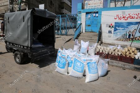 Editorial image of This picture taken on March 23, 2020 shows a view close the food distribution centers, Khan Younis, Palestinian Territory - 23 Mar 2020