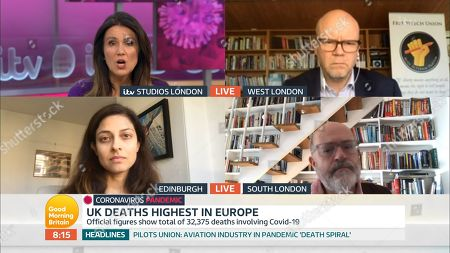 Stock Image of Susanne Reid, John J Sweeney, Toby Young and Dr. Devi Sridhar
