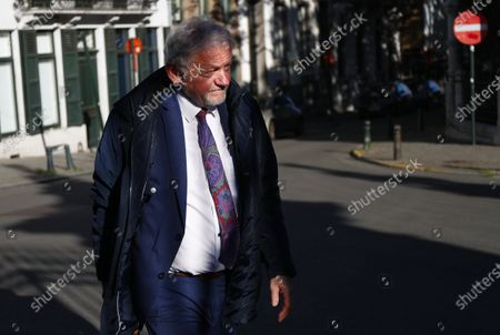 Stock Image of Minister of Mobility Francois Bellot arrives for a meeting of the National Safety Council, consisting of politicians and intelligence services, to discuss tackling the COVID-19 (Coronavirus) pandemic, Wednesday 06 May 2020 in Brussels.