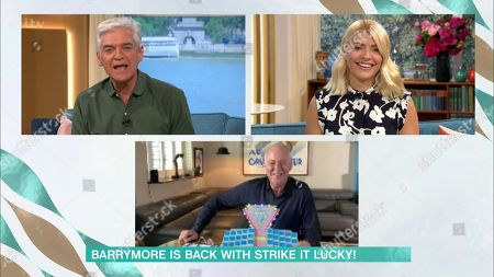 Stock Photo of Phillip Schofield, Holly Willoughby and Michael Barrymore