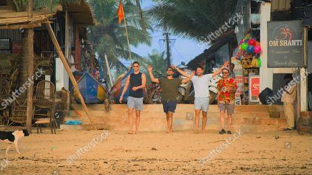 Scott Thomas, Ryan Thomas and Adam Thomas with Dad Dougie.
