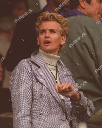 Richard Krajicek's Girlfriend Daphne Deckers In The Audience At Wimbledon Tennis Championships June 1997