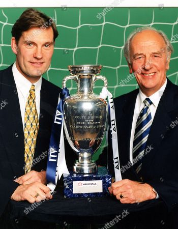Archive picture shows: (l-r) - Glenn Hoddle and Brian Moore in 'EURO 96' - 1996