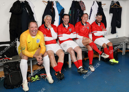 Stock Picture of (l-r) David Seaman, Rob Lee, Lee Sharpe, Ray Parlour and Lee Hendrie.