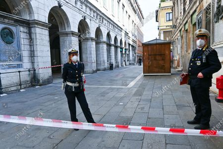 Editorial photo of Piazza San Marco closed for a video appeal by Zucchero, Venice, Italy - 02 May 2020