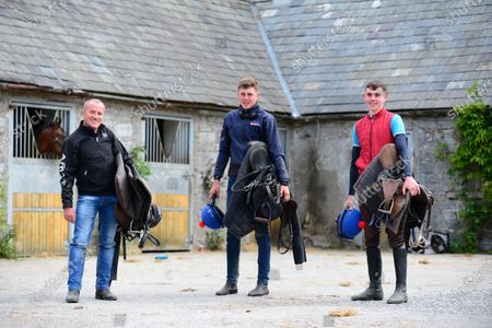 Stock Picture of Ballyhannon House Stables, Quin, Co.Clare. (L-R) Riders at Johnny Hassett's stables, Patrick McLoughlin, Evan McNamara and Shane O'Brien.