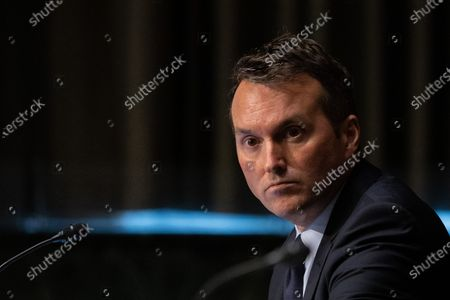 Eric Fanning, president and CEO of the Aerospace Industries Association, looks on during a United States Senate Commerce, Science and Transportation Committee, on the state of the aviation industry and the impact of the Coronavirus pandemic, on Capitol Hill, in Washington D.C.,