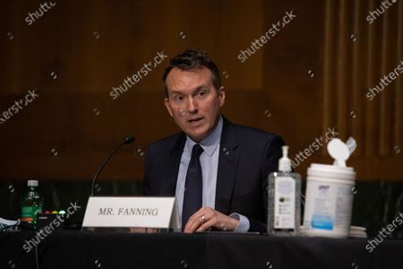 Eric Fanning, president and CEO of the Aerospace Industries Association testifies during his opening statement on Capitol Hill, in Washington D.C., during a United States Senate Commerce, Science and Transportation Committee, on the state of the aviation industry and the impact of the Coronavirus pandemic.