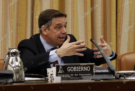 Spanish Agriculture, Fishing and Food Minister, Luis Planas, appears before the Agriculture, Fishing and Food parliamentary commission at Lower Chamber of Spanish Parliament, in Madrid, Spain, 07 May 2020. Spain is on zero phase of de-escalation plan but moves to the next stage will depend on health situation in each province.