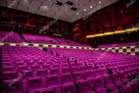 Editorial picture of Farid Sheek and Maya Fridman concert in empty hall, Rotterdam, Netherlands - 07 May 2020