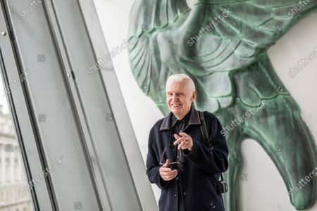 Mike McCartney, 75, brother of Sir Paul McCartney of The Beatles. Mike is a member of the Liverpudlian performance artists The Scaffold, songwriter and photographer but never left his hometown city. Mike is pictured in the Museum of Liverpool which overlooks the famous Liver Building with it's famous Liverbirds which adorn the top turrets. Behind him is a life-size replica of one of the Liverbirds statues.His 1974 album McGear, produced by brother Sir Paul McCartney has been reissued by Esotric.