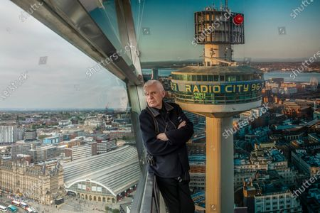 Mike McCartney, 75, brother of Sir Paul McCartney of The Beatles. Mike is a member of the Liverpudlian performance artists The Scaffold, songwriter and photographer but never left his hometown city. Mike is pictured on the viewing platform of the Radio City Tower which overlooks the city centre of Liverpool.His 1974 album McGear, produced by brother Sir Paul McCartney has been reissued by Esotric.
