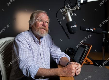Stock Image of author Bill Bryson at the Audible studio where is narrating his new book - The Body: A Guide form Occupants.