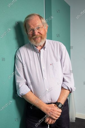 Stock Photo of author Bill Bryson at the Audible studio where is narrating his new book - The Body: A Guide form Occupants.