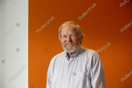Stock Picture of author Bill Bryson at the Audible studio where is narrating his new book - The Body: A Guide form Occupants.