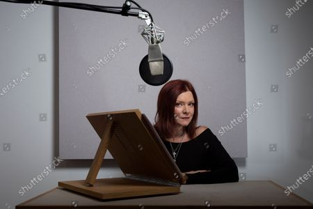 Actor Finty Williams in the recording studio at ID Studios in North London where she records many audio books for clients.Finty is the daughter of actress Judi Dench.