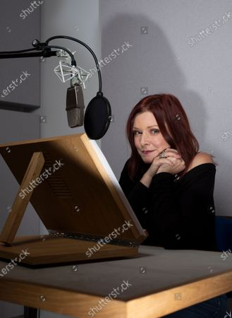 Stock Photo of Actor Finty Williams in the recording studio at ID Studios in North London where she records many audio books for clients.Finty is the daughter of actress Judi Dench.