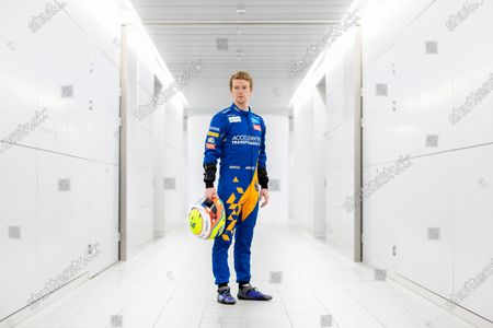 Oliver Turvey, F1 Test and Development Driver at McLaren. Oliver is pictured at the McLaren Technology Centre in Woking.