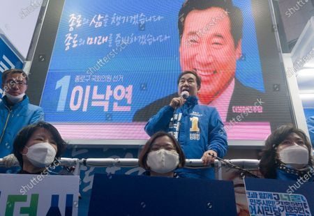 Editorial photo of South Korea's 2020 general election campaign, Seoul - 07 May 2020