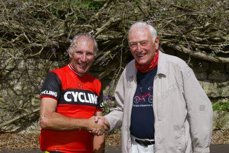 CTC President Phil LIGGETT and Dr Alex MOULTON (84yrs) Bradford on Avon May 2004 Honary Member CTC