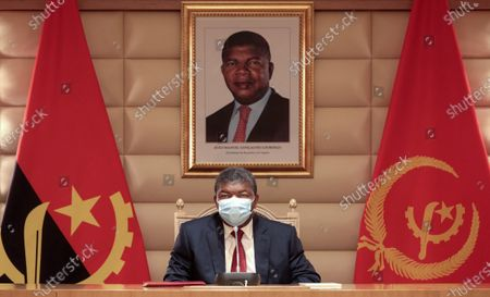President of the Republic of Angola Joao Lourenco attends the meeting of the Council of the Republic on the situation of COVID-19 in the country, at the Presidential Palace in Luanda, Angola, 07 May 2020. The Council of the Republic of Angola prolonged the state of emergency due to increased risks of transmission of the new coronavirus, but called for a greater 'balance between social confinement and the situation of hunger'