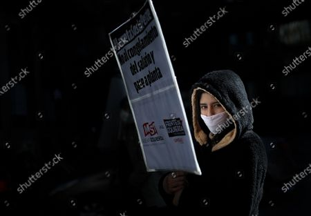 Social groups demonstrate against the general economic crisis, exacerbated by the national quarantine of the pandemic, in Buenos Aires, Argentina, 07 May 2020. The Argentine economy is in recession after the outbreak of a currency crisis in April 2018, which then spread to other sectors and led to a general drop in activity and consumption, with high inflation, a situation that has been  exacerbated by the cessation of activities caused by the coronavirus pandemic.