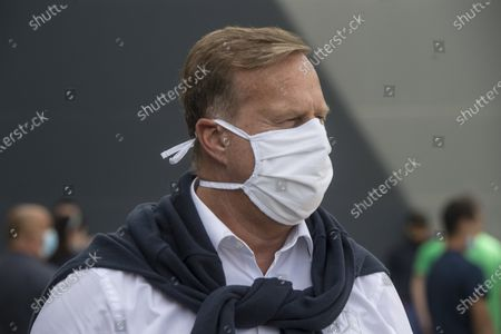Christian Wolff, CEO of Mercedes-Benz Manufacturing Hungary Kft. wears a protective mask at the assembly line during the corona pandemic in the car manufacturing plant of Mercedes-Benz Manufacturing Hungary Kft., an affiliate of Daimler AG of German carmaker in Kecskemet, Hungary, 07 May 2020. More than 120 measures have been taken at the plant to ensure compliance with social distancing rules after Daimler restarted its production on 28 April 2020.