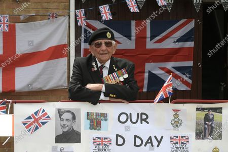 Editorial image of 100 year old D-Day veteran Don Sheppard, Essex, UK - 08 May 2020