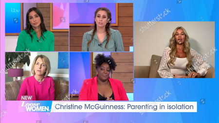 Stock Image of Christine Lampard, Stacey Solomon, Kaye Adams, Judi Love and Christine McGuinness