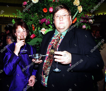 Evening Standard Writer Charles Campion And His Wife Sylvia Celebrate With A Glass Of Champagne After Receiving His Award.
