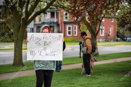 Editorial picture of Citizens protest against Ohio's Stay-at-Home order, Sandusky, USA - 09 May 2020