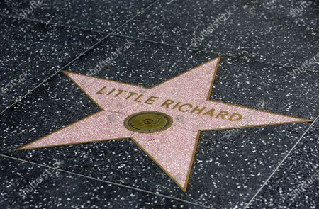Little Richard's star on the Hollywood Walk of Fame. Little Richard passed away today in Nashville, Tennessee.