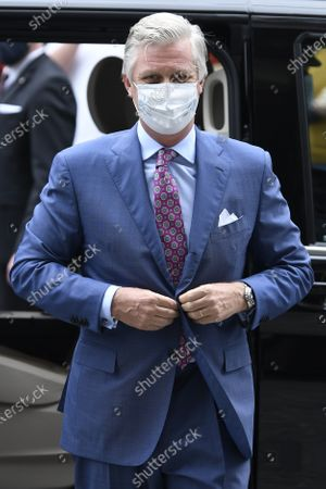 Editorial photo of King Philippe of Belgium visits shops ahead of reopening, Brussels - 10 May 2020