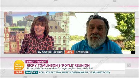 Lorraine Kelly and Ricky Tomlinson