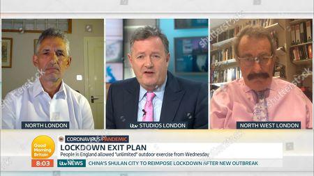 Piers Morgan, Robert Winston and Professor Tim Spector