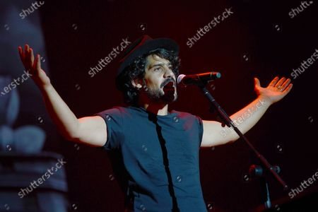 Editorial photo of Alessandro Mannarino in concert at the Capannelle Hippodrome, Rome, Italy - 25 Jul 2018