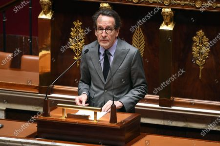 French center-right ruling party La Republiaue en Marche (LREM) deputy Gilles Le Gendre during the debate on the national strategy of the deconfinement plan in the context of the fight against the COVID-19 pandemic at the National Assembly in Paris, France